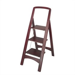 Three Step Rockford Wood Step Stool