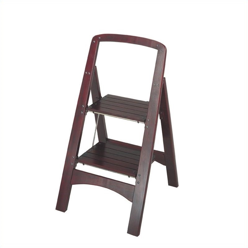 Two Step Rockford Wood Step Stool 11254mgy1