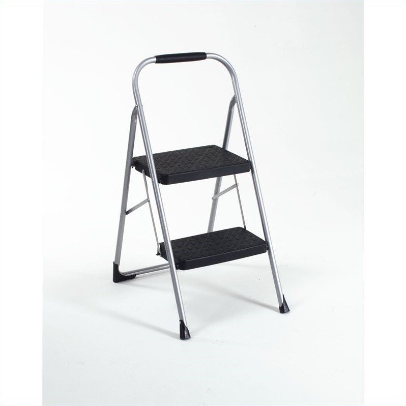 Two Step Folding Step Stool With Rubber Hand Grip 11308pbl1e