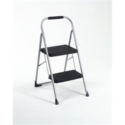 Two Step Folding Step Stool with Rubber Hand Grip