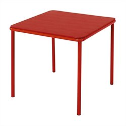 Square Kids Vinyl Table in Red
