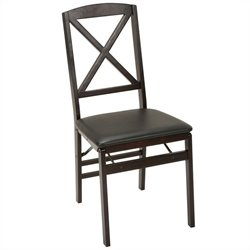 Espresso Wood Folding Chair (2-pack)