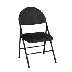 Folding Chair in Black (4-pack)