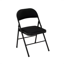 Fabric Folding Chair in Black (4-pack)