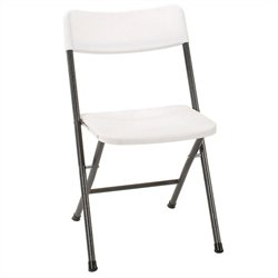 Resin Folding Chair in White Speckle (4-pack)