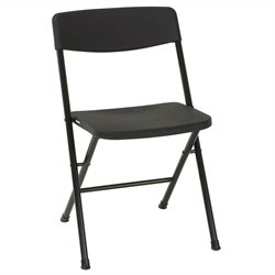 Resin Folding Chair in Black (4-pack)