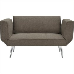 Futon Sofa in Gray Linen