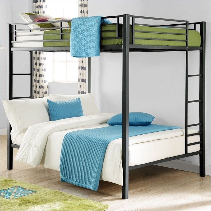 Metal full over full bunk bed in black 5530096 Black bunk beds
