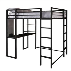 Full Size Loft Bed in Black
