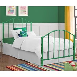 Metal Twin Bed in Green