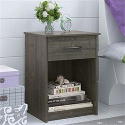 Ameriwood 1 Drawer Wood Nightstand in Rodeo Oak