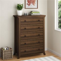 5 Drawer Wood Dresser in Homestead Oak
