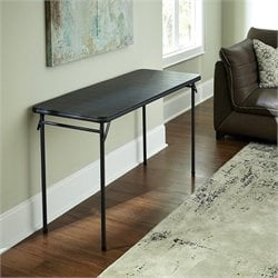 Vinyl Folding Table in Black
