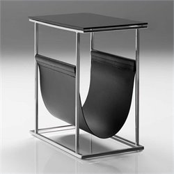 Mobital Cor Magazine Rack in Stainless Steel and Matte Black
