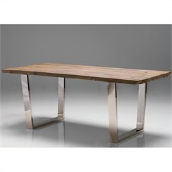 Mobital Bordeaux Dining Table in Polished Steel