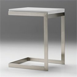 Mobital Faze Extension End Table in High Gloss White