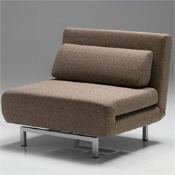 Mobital Iso Chair-Bed in Brown Tweed