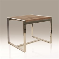 Mobital Motif End Table in Polished Steel
