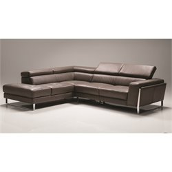 Mobital Ares Leather Sectional in Gray