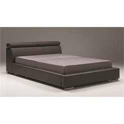 Mobital Vertu Upholstered Leather Bed in Dark Gray