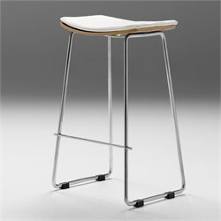 Mobital Lucia Bar Stool in White and Walnut