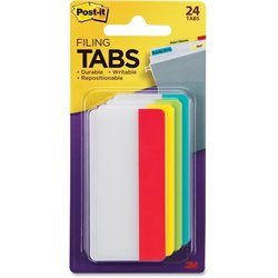 3M Post-it Durable Filing Tabs (Set of 24)