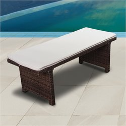 International Home Atlantic Bellagio Patio Bench in Brown