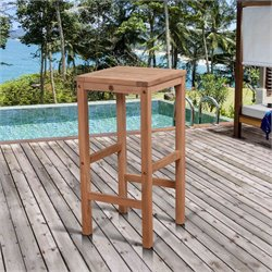 International Home Amazonia Teak Coventry Patio Bar Stool in Natural