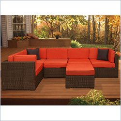 International Home Miami Atlantic 6 Piece Patio Sectional Set