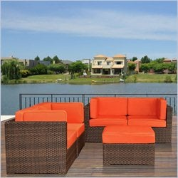 International Home Miami Atlantic 5 Piece Patio Set
