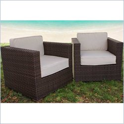 International Home Miami Atlantic Set of 2 Armchair