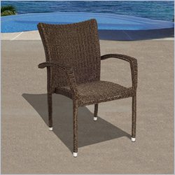 International Home Miami Atlantic Bari Armchair Set of 4 in Dark Brown