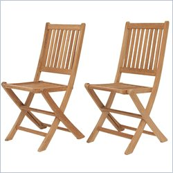 International Home Miami Amazonia Teak Set of 2 London Folding Chair