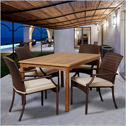 International Home Amazonia Teak 5 Piece Patio Dining Set