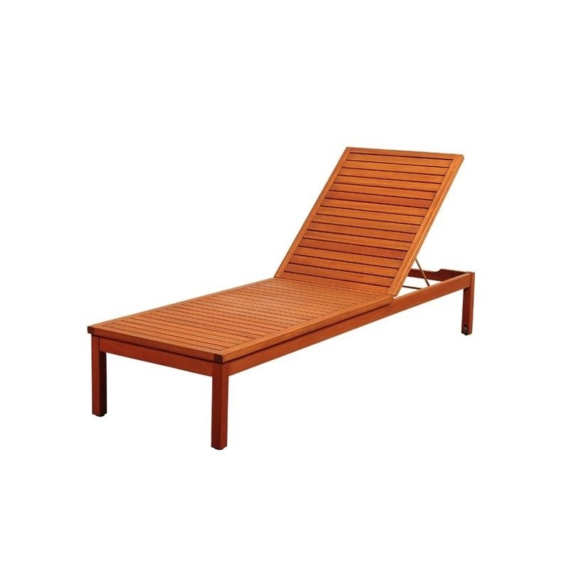 International Home Amazonia Patio Lounge in Brown and