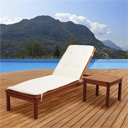 International Home Amazonia 2 Piece Patio Lounge Set in Brown