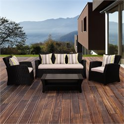 International Home Atlantic 4 Piece Outdoor Sofa Set