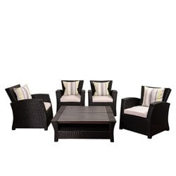 International Home Atlantic 6 Piece Outdoor Sofa Set