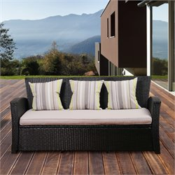 International Home Atlantic Outdoor Sofa with Cushions in Black
