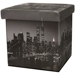 Oriental Furniture Brooklyn Bridge Storage Ottoman