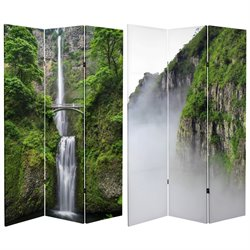 Oriental Furniture 6' Tall Mountaintop Waterfall Canvas Room Divider