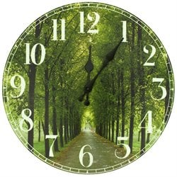 Oriental Furniture Path of Life Wall Clock