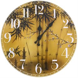 Oriental Furniture Bamboo Tree Wall Clock