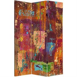Oriental Furniture 6' Tall India Double Sided Canvas Room Divider