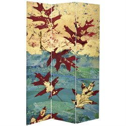 Oriental Furniture 7' Tall Autumn Leaves Canvas Room Divider