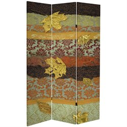 Oriental Furniture 7' Tall October Gold Canvas Room Divider