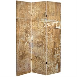 Oriental Furniture 6' Tall Sandy Meadow Canvas Room Divider