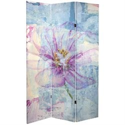Oriental Furniture 6' Tall Love Blossom Canvas Room Divider