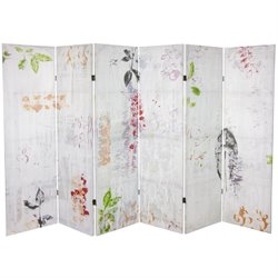 Oriental Furniture 5.25' Paradise Grove Canvas Room Divider