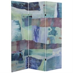 Oriental Furniture 5' Tall Ocean Dance Canvas Room Divider